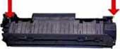 техника заправки картриджа hp cb435a